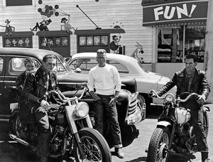 1950s Bikers At Playland