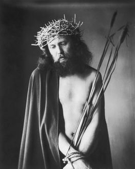 Actor as Jesus in Passion Play