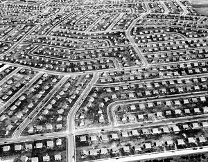 Aerial view of Levittown, Long Island, New York