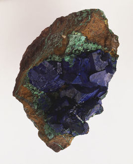 Azurite in Limonite Groundmass