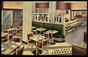 The Cafe Burgundy. ca. 1949, Rochester, New York, USA, The CAFE BURGUNDY 'Rochester's
