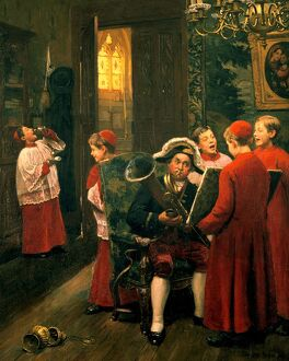 Choirboys' by Paul-Charles Chocarne-Moreau (1855-1931) French artist. Oil on canvas