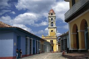 world heritage/building exterior/cuba trinidad bell tower ex convent saint francis