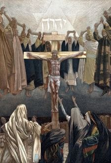 It is Finished': Christ's last words from the Cross. Illustration by JJ Tissot