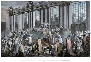 French Revolution of 1789: Coup d'etat of 9 November 1799, the day Napoleon Bonaparte