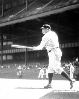 George Babe Ruth at bat 1934