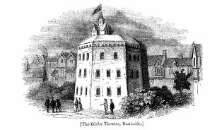 Globe Theatre, Bankside, Southwark, London, as it appeared c1597. Wood engraving