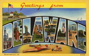 Greeting Card from Delaware. ca. 1939, Delaware, USA, Greeting Card from Delaware