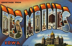 Greeting Card from Des Moines, Iowa. ca. 1944, Des Moines, Iowa, USA, D-Bankers Life Company