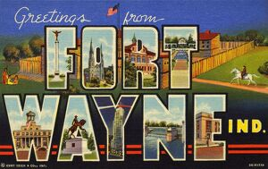 Greeting Card from Fort Wayne, Indiana. ca