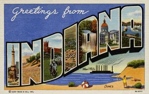 Greeting Card from Indiana. ca. 1939, Indiana, USA, Greeting Card from Indiana