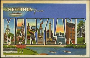 Greeting Card from Maryland. ca. 1939, Maryland, USA, Greeting Card from Maryland