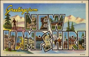 Greeting Card from New Hampshire. ca. 1939, New Hampshire, USA, Greeting Card