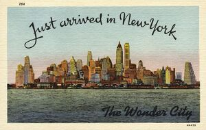 Greeting Card from New York City. ca. 1944, New York, New York, USA, Greeting Card