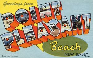 Greeting Card from Point Pleasant Beach. ca. 1949, Point Pleasant Beach, New Jersey