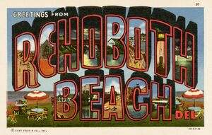 Greeting Card from Rehoboth Beach, Delaware. ca. 1944, Rehoboth Beach, Delaware, USA