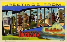 Greeting Card from Vincennes, Indiana. ca. 1939, Vincennes, Indiana, USA, VINCENNES, IND