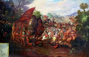 Hernando Cortes (Cortez - 1485-1547) Spanish conquistador, Cortes and his men after