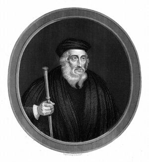 John Wycliffe (c13291384) English religious reformer. Leader of the Lollards (Mumblers)