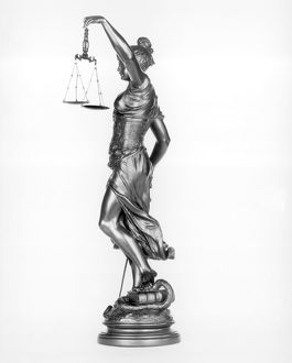 Lady of justice with scales and sword