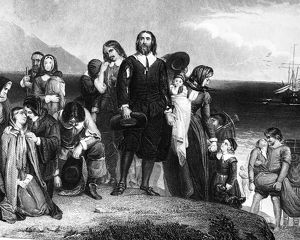 Landing of the Pilgrims at Plymouth, Massachusetts