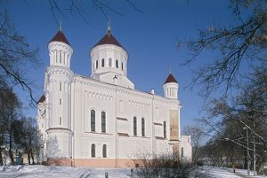 world heritage/building exterior/lithuania vilnius old town orthodox church