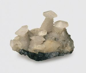 Nailhead calcite, and galena, an associated mineral
