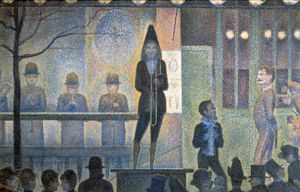 The Parade' (The Side Show) 1887-1889: Georges Pierre Seurat (1859-1891) French artist
