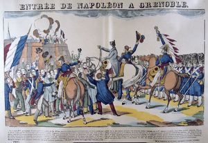 People greeting Napoleon I on his entry into Grenoble on 7 March 1815 after his return