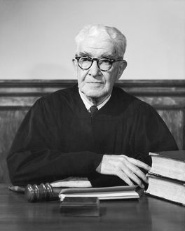 Portrait of mature male judge, 1950-60s
