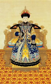 Portrait of the Xiaosheng Empress Dowager, Qianlong period, 1751, by anonymous The
