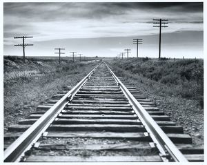 Empty railroad tracks