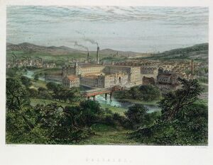 Saltaire, model textile factory and town near Bradford,Yorkshire, England
