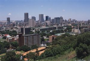 Skyline from Berea: a view of Johannesburg's blocks of flats.