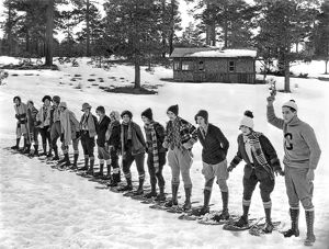 Snowshoe Race In The Mountains