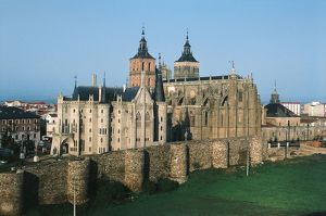 Spain, Castile and Leon Province, Astorga, Episcopal Palace and Astroga Cathedral