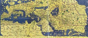 The Tabula Rogeriana, drawn by al-Idrisi for Roger II of Sicily in 1154, an important