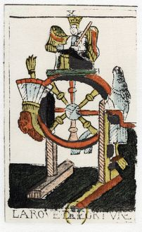 Tarot card. The Juggler or Mountebank. Parisian Tarot 1500. Tarot pack of 22 cards