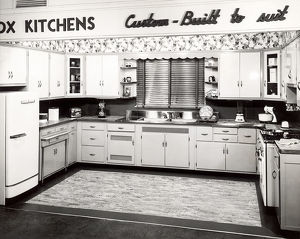 Vintage image of model kitchen