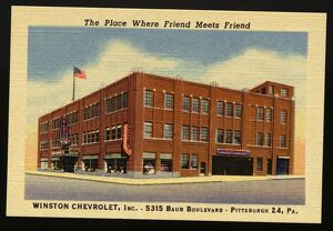 Win ton Chevrolet. ca. 1948, Pittsburgh, Pennsylvania, USA, The Place Where Friend Meets Friend