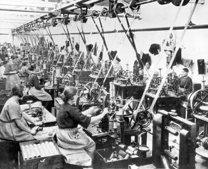 Women sewing in garment factory