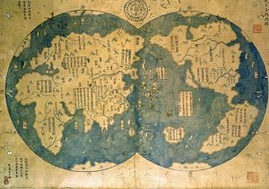 world map is believed by some to have been compiled by Zheng He.Zheng He (1371-1435)