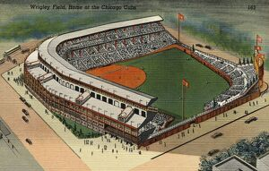 Wrigley Field. ca. 1939, Chicago, Illinois, USA, Wrigley Field, Home of the Chicago Cubs.
