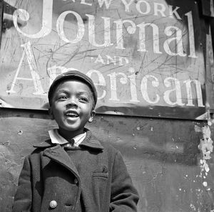 A Young Harlem Newsboy